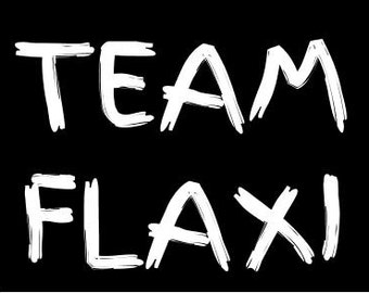 TEAM FLAXI! V-neck - black