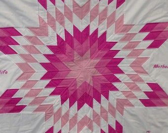 Native American Star Quilt / Memorial Quilt