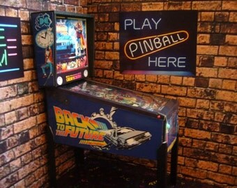 Back to the Future ~  Miniature Pinball Table Model 1/12 Scale