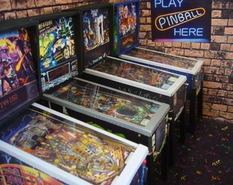 Miniature Pinball Table Model -  Pick One from 100's - 1/12th scale  mini arcade