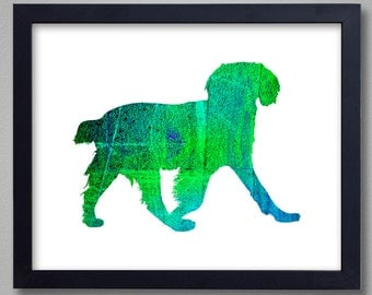 Brittany Spaniel Art Print - Proceeds to Shelters - Dog Wall Art - Abstract Digital Animal Painting
