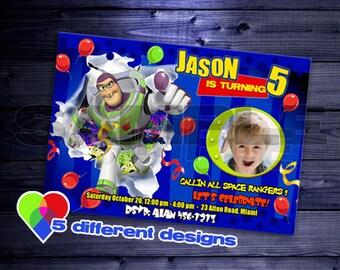 buzz lightyear invitation birthday party