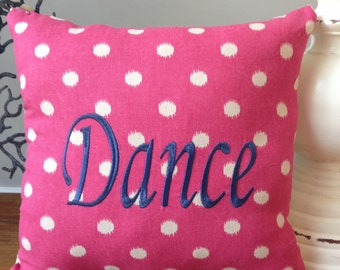 Embroidered Dance Pillow