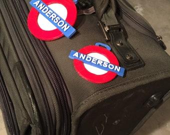 luggage tags, custom, London Style
