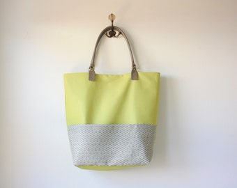 Green tote bag - Green beach bag - Green diaper bag