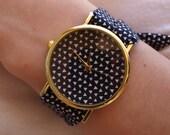 Geometric fabric watch | womens watches | geometric print | geometric watch | lolita time | fabric watch | womens watch | watch | wristwatch