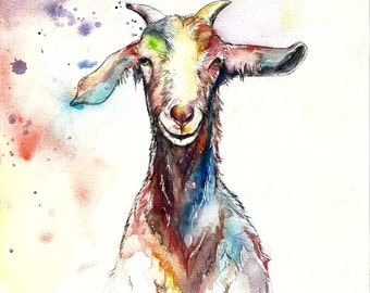 William The Goat Limited Edition A3 Colour Lithograph Print