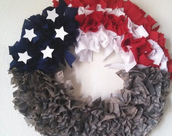 Cammie American Flag Wreath