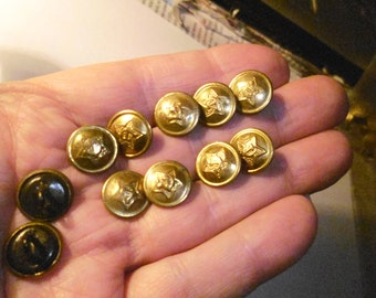 Button 14 mm brass + steel Price for 1 unit.
