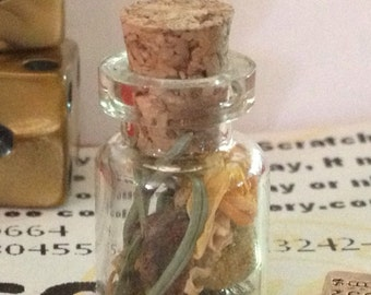 Magic Spell Bottle Charm- Gambling Luck, Lottery, Bingo, Sweepstakes, Games of Chance Good Luck