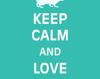 Keep Calm and Love Hedgehogs - Hedgehogs - Art Print - Keep Calm Art Prints - Posters