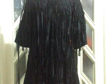 Fringe Black Dress
