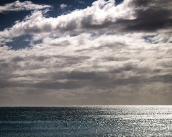 Ocean Clouds Sunlight Fine Art Photograph