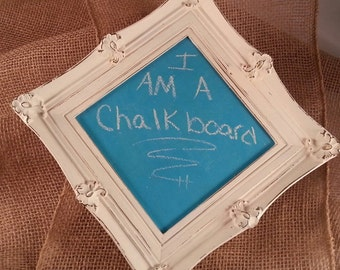 Colored Chalkboard In Lovely Ornate Frame/Home Decor/Wedding/Nursery/Office