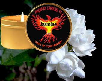 JASMINE Soy Candle / Texas Made Therapeutic Candle