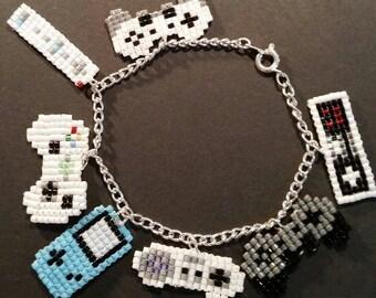 Game Controller Charm Bracelet.