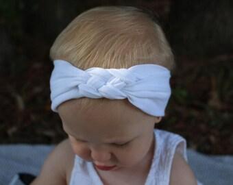 white celtic knot headband