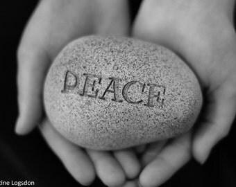 Peace Black and White Photo 8x10 Print Wall Art