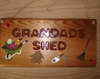 Grandads / Grandpa / Dads Shed Garden Plaque Outdoor Shed Plaque Sign - Father's Day - Gift for Grandad