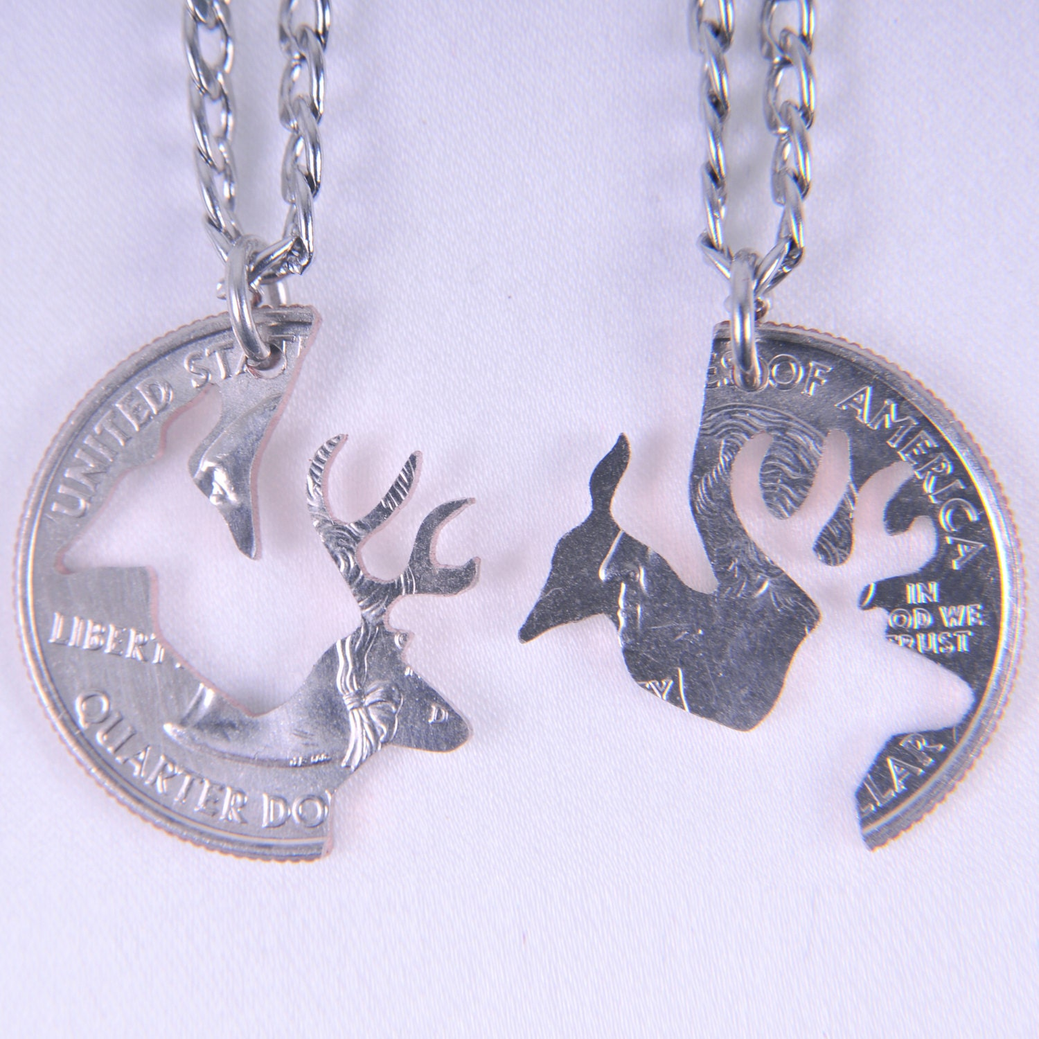 4dc6b9306a ... Set Couple Pendant: HS001-Buck And Doe Set Of Couple Jewelry Pendant  Necklaces
