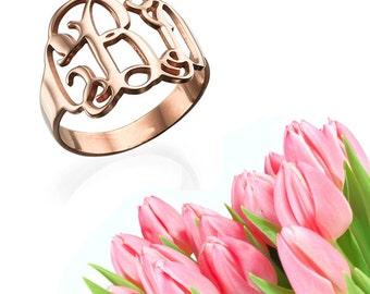 Classic Monogram Ring (rose gold)