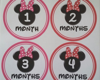 Minnie Mouse Monthly Stickers