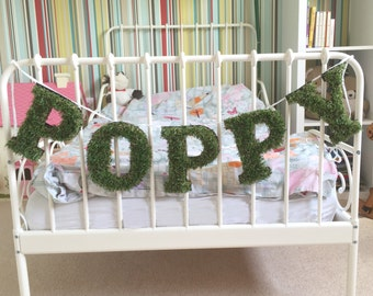 Personalised Grass Name Bunting
