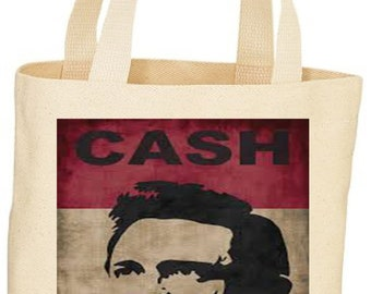 Johnny Cash custom tote bag