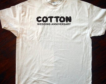 Cotton Wedding Anniversary T-Shirt