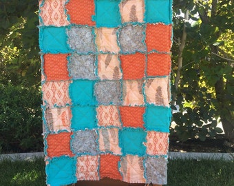 Tribal/Feather Rag Quilt