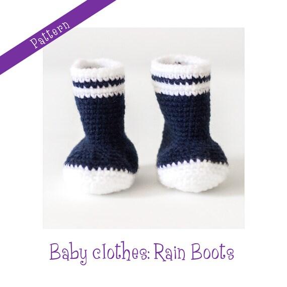 Crochet Pattern Baby Rain Boots : Crochet Pattern: rain boots for babies par ...