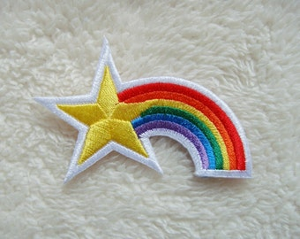 Star and Rainbow Arch DIY Applique Iron on Patch