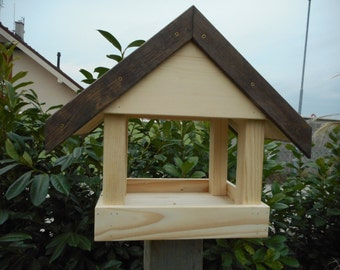 brown and natural bird house