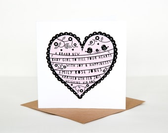Personalise/Personalize New Baby Card
