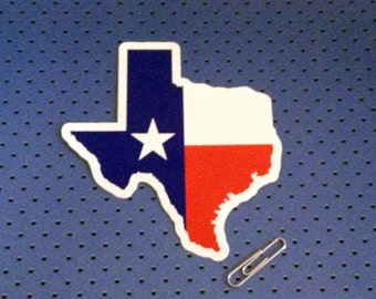Texas State Shape Bumper Sticker