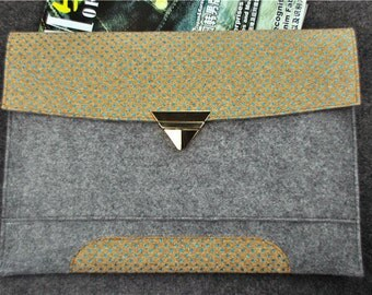 """Dell laptop case sleve 11.6"""" 14"""" 15"""" 18"""", Cork tablet cover for Dell XPS 18"""" / Inspiron 11"""", Custom Computer, Notebook Envelope, A1A361"""