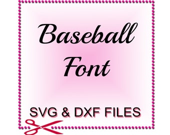 Baseball Font SVG - SVG Cut Files - Baseball SVG Files - Baseball Design Files For Silhouette Studio and Cricut Design Space.