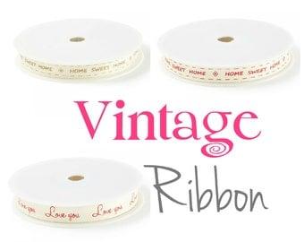 15mm Vintage Printed Woven Ribbon x 20mts
