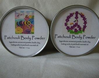 Patchouli Body Powder, Body Powder, Natural Powder, Talc Free Powder, Powder, Handcrafted Powder,Bath Powder