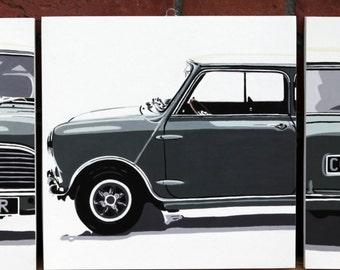 x3 Mini Cooper mounted glicee prints.
