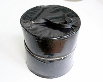 2 Vintage patent black hat boxes