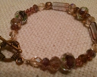Pastel Facets glass beaded bracelet