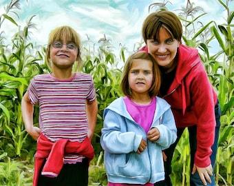 Custom Digital Family Portrait Painting