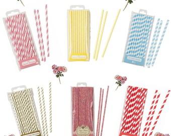 Retro Style Paper Straws Varying Sizes