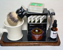"""Shaving Stand for Razor, Brush, Cup, and Accessories, 4"""" base.  FREE SHIPPING!!!"""