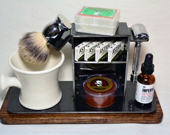 "Shaving Stand for Razor, Brush, Cup, and Accessories, 4"" base.  FREE SHIPPING!!!"