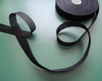 "Bias tape | black | Cotton | 29 mm | 1 3/16"""