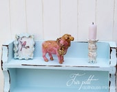Sheep Statue Pink/Gold-Butterfly Charm for Dollhouse