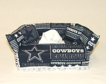 Dallas Cowboys NFL Licensed fabric tissue box cover.