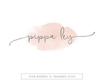 "Premade Logo Design - Watercolor Logo - Photography Logo - Boutique Logo - Small Business Logo - ""Pippa"" Deluxe"